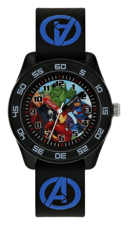 Marvel Avengers Time Teacher Black Silicone Strap Watch from Marvel
