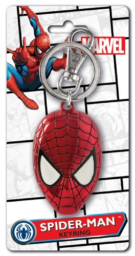 Marvel Spider Man Head Coloured Pewter Key Ring from Marvel