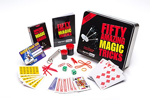 Marvins Magic Fifty Amazing Magic Tricks Set - Professional Magic made easy from Marvin's Magic