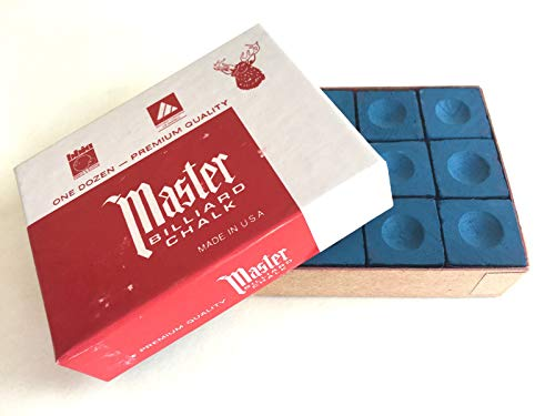 Box of 12 high quality Geniune BLUE Masters chalks from Masters
