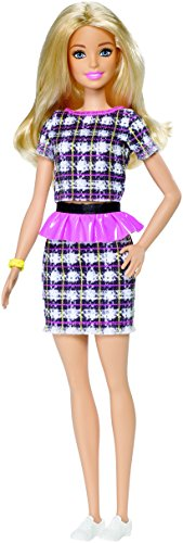 Barbie DYY88 58 Tweed Fashionistas Doll with Pink Peplum from Barbie