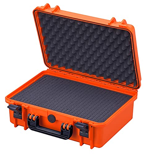 Waterproof Large Protective Hard Camera Case with Foam - IP67 Rated Dustproof Outdoor Protection for GoPro HERO2 HERO3, DSLR, SLR, Lenses and Accessories (Orange) from Max Case