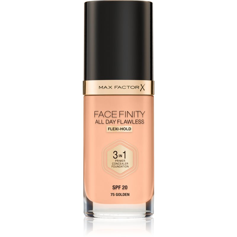 Max Factor Facefinity All Day Flawless Long-Lasting Foundation SPF 20 Shade 75 Golden 30 ml from Max Factor