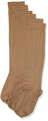 MAXAR 12-15 mmHg 2X-Large Beige H-170 Unisex Dress and Travel Support Socks - Pack of 3 from Maxar
