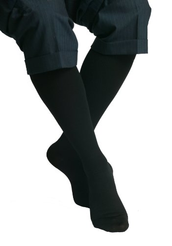 MAXAR 12-15 mmHg Large Black H-170 Unisex Dress and Travel Support Socks - Pack of 2 from Maxar