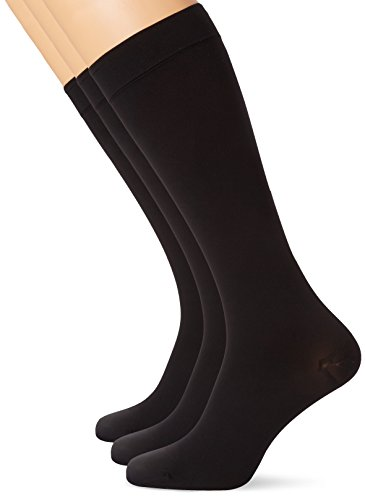 MAXAR 12-15 mmHg Medium Black H-170 Unisex Dress and Travel Support Socks - Pack of 3 from Maxar