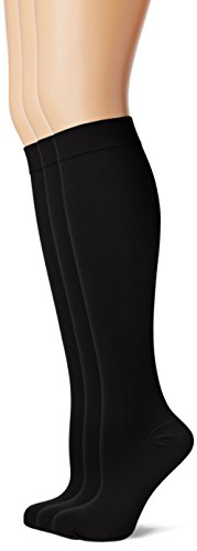 MAXAR 12-15 mmHg Small Black H-170 Unisex Dress and Travel Support Socks - Pack of 3 from Maxar