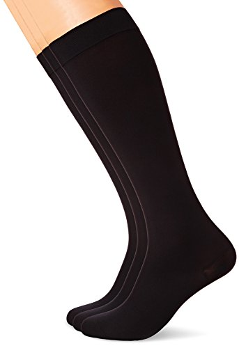MAXAR 12-15 mmHg X-Large Black H-170 Unisex Dress and Travel Support Socks - Pack of 3 from Maxar