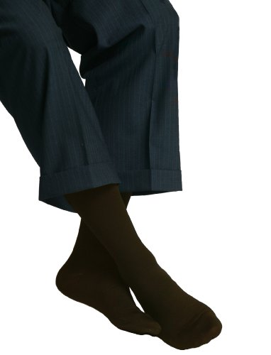 MAXAR 20-22 mmHg 2XLarge Brown H-1110 Trouser Support Socks for Men - Pack of 2 from Maxar