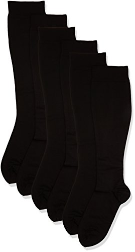 MAXAR 20-22 mmHg Medium Black H-1110 Trouser Support Socks for Men - Pack of 3 from Maxar