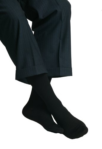 MAXAR 20-22 mmHg Small Black H-1110 Trouser Support Socks for Men - Pack of 2 from Maxar