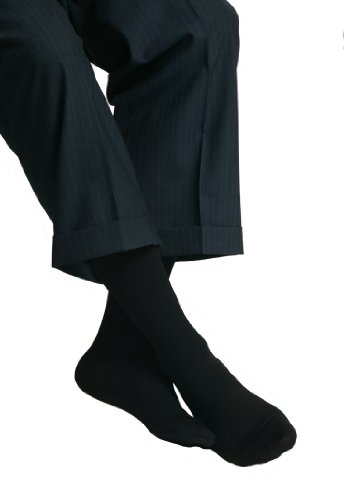 MAXAR 20-30 mmHg Medium Black H-1030 Trouser Support Socks for Men - Pack of 3 from Maxar