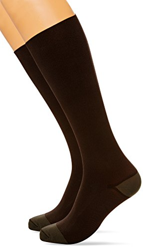 MAXAR 23-30 mmHg Medium Brown H-1030 Trouser Support Socks for Men - Pack of 2 from Maxar