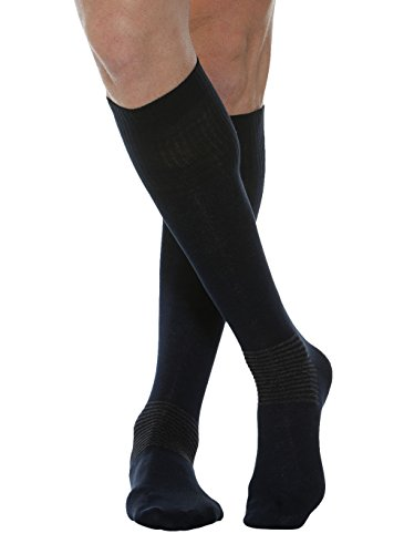 MAXAR 2X-Large Black Cotton/Silver Comfort/Diabetes Unisex Socks from Maxar
