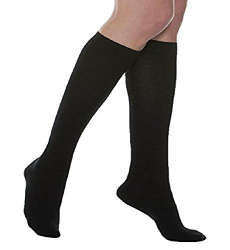 MAXAR 2X-Large Black Silver/Cotton Unisex Compression Support Socks from Maxar