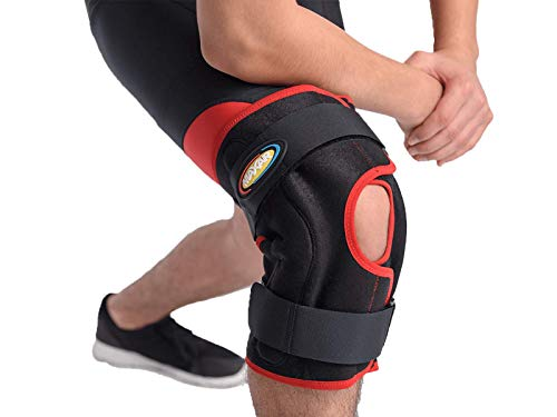 MAXAR KNS-140 Large Airprene Breathable Neoprene Wrap-Around Knee Brace Double-Pivot Hinge from Maxar