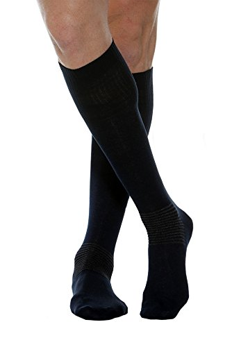 MAXAR Medium Black Cotton/Silver Comfort/Diabetes Unisex Socks from Maxar