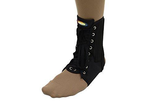 MAXAR NAN-115 BL Medium Canvas Ankle Brace with laces from Maxar
