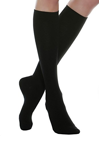 MAXAR Small Black Rejuvenating Unisex Compression Support Socks from Maxar