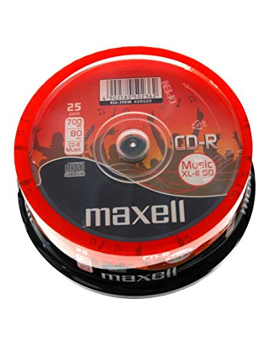 CD-R80 25 Pack Spindle 25x speed from Maxell