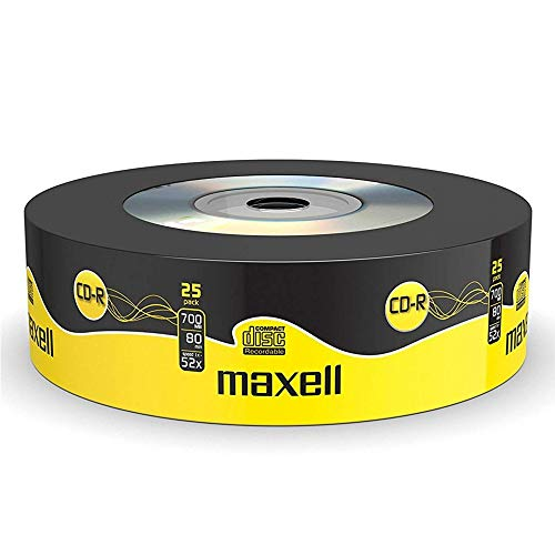 Maxell CD-R 25 Blank Discs 700MB Extra Protection from Maxell