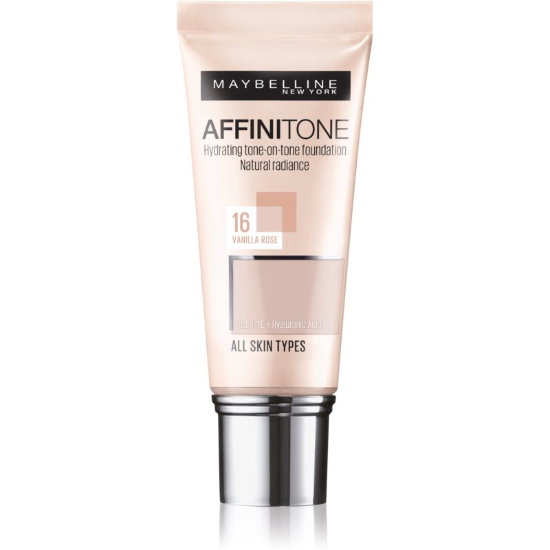 Maybelline Affinitone Hydrating Foundation Shade 16 Vanilla Rose 30 ml from Maybelline
