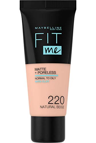 Maybelline Fit Me Matte & Poreless Foundation 220 Natural Beige 30ml from Maybelline