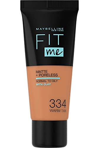 Maybelline Fit Me Matte & Poreless Foundation 334 Warm Tan 30ml from Maybelline