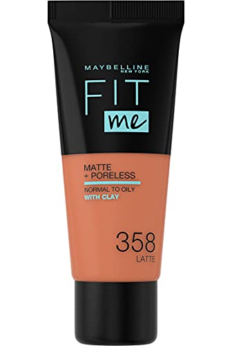 Maybelline Fit Me Matte & Poreless Foundation 358 Latte 30ml from Maybelline
