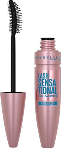 Maybelline Mascara, Lash Sensational Volumizing and Thickening Waterproof Mascara, Black from Maybelline