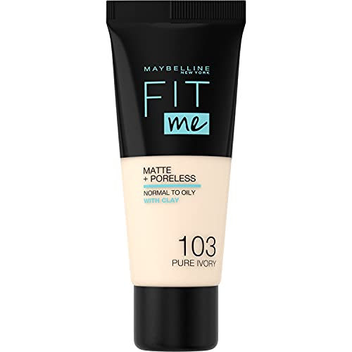 Maybelline  Fit Me Matte & Poreless Foundation, 103 Pure Ivory from Maybelline