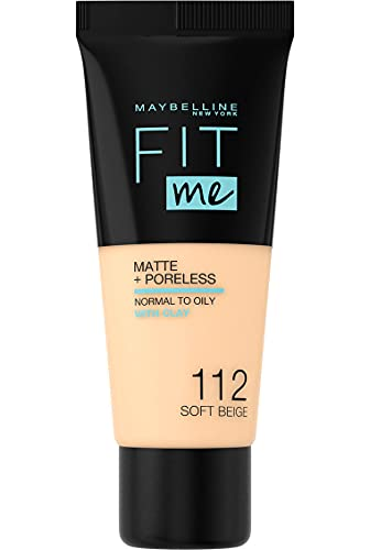 Maybelline  Fit Me Matte and Poreless Foundation, 112 Soft Beige from Maybelline