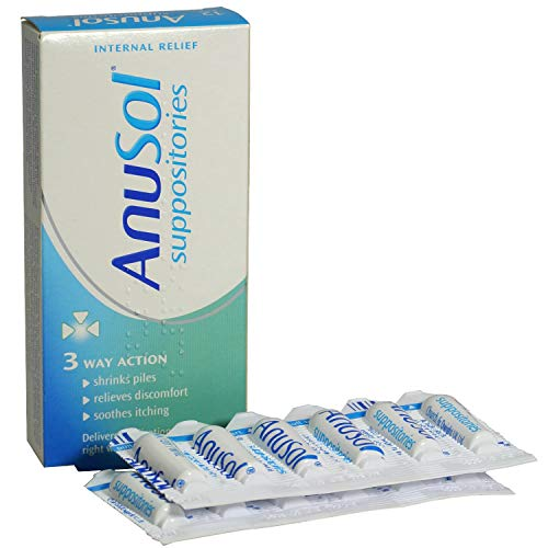 2 x Anusol Suppositories 24 (3 Way action) from Anusol