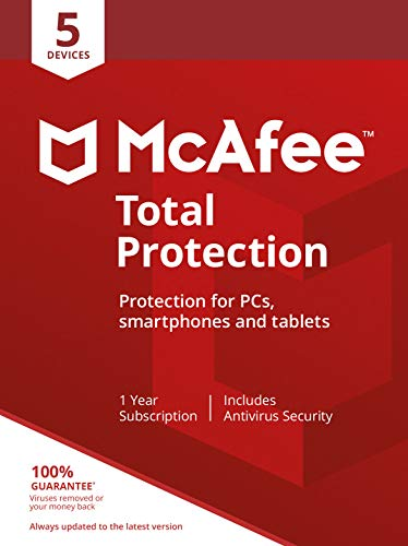 McAfee 2019 Total Protection|5 Devices|PC/Mac/Android/Smartphones|Activation code  by post from Mcafee
