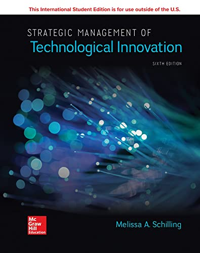 ISE Strategic Management of Technological Innovation from McGraw-Hill Education