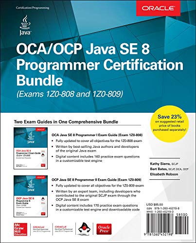 OCA/OCP Java SE 8 Programmer Certification Bundle (Exams 1Z0-808 and 1Z0-809) from McGraw-Hill Education