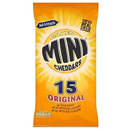 McVitie's Baked Mini Cheddars - Original (15x25g) - Pack of 6 from McVities