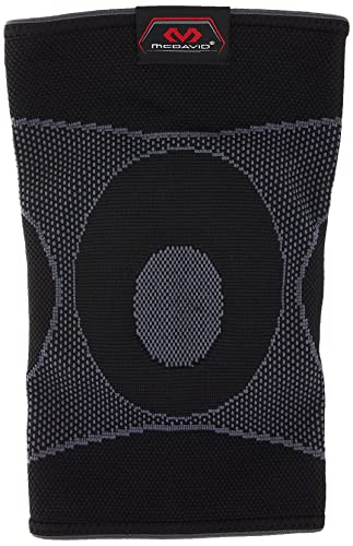 McDavid 5125 Knee Sleeve 4 way elastic with gel buttresses Black - Large from Mcdavid