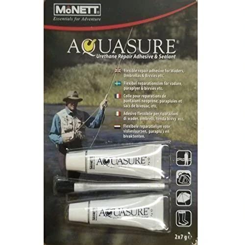 McNett Aquasure Twin Pack 2x7g Wader Wetsuit Repair from Mcnett