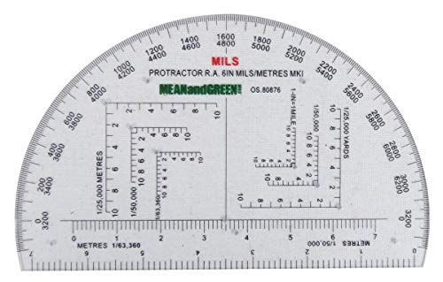Mean and Green Military Protractor RA Mils from Mean and Green
