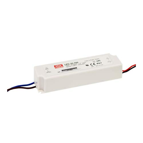 Mean Well LPC-35-700 AC-DC Single Output LED Driver, Constant Current from Meanwell