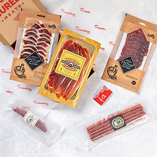 CONNOISSEURS CHARCUTERIE Meat Box - British Artisan Cured Meats - Melt in The Mouth, Finely Crafted, Cured Gourmet Craft Meats for The Connoisseur - Ideal Tasty Food Gift - Perfect Charcuterie Board from Meatbox