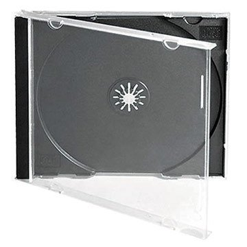 Media Replication CD/DVD Jewel 10.4mm Cases for 1 Disc with Black Tray (25) from Media Replication