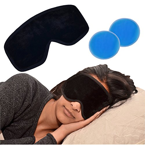 Medipaq® Deluxe Magnetic Gel Eye Mask - Reduce Swelling, Dark Circles, Wrinkles, Migraines or Tired Puffy Eyes from Medipaq