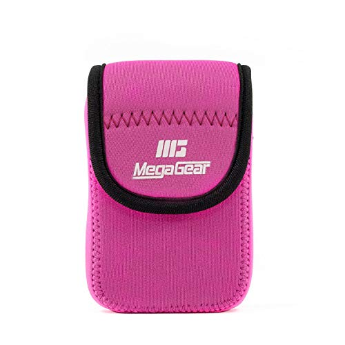 MegaGear MG040 Canon PowerShot SX740 HS, SX730 HS, SX720 HS, SX710 HS, Sony Cyber-shot DSC-HX60V, Canon PowerShot SX700 HS Ultra Light Neoprene Camera Case - Hot Pink from MegaGear