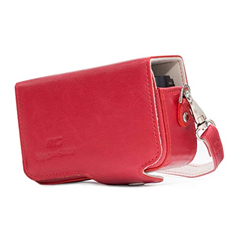 MegaGear MG1205 II Leather Camera Case with Strap for Sony Cyber-Shot DSC-RX100 V - Red from MegaGear