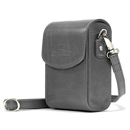 MegaGear MG1217 Nikon Coolpix A1000, A900 Leather Camera Case with Strap - Gray from MegaGear