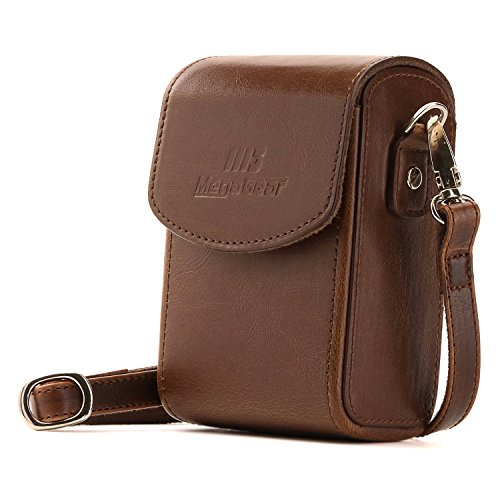 MegaGear MG1238 DSC-RX100 III Leather Camera Case with Strap for Canon PowerShot S120 - Dark Brown from MegaGear