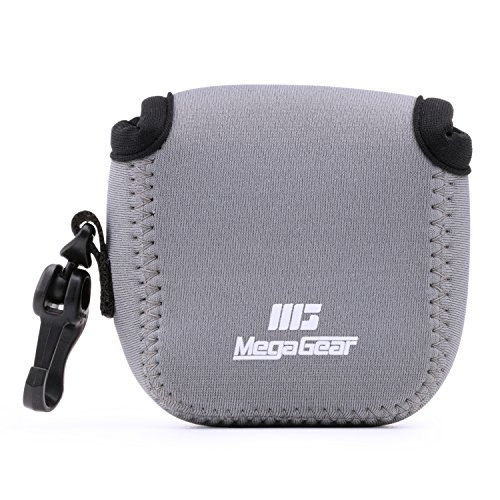 MegaGear MG1314 GoPro Hero 7, Hero 6, Hero 5, Sony DSC-RX0 Ultra Light Neoprene Camera Case, with Carabiner - Gray from MegaGear