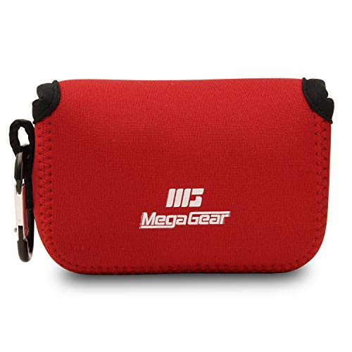MegaGear MG720 Ultra Light Neoprene Camera Case compatible with Panasonic Lumix DC-TZ95, DC-TZ90, DMC-TZ100 - Red from MegaGear